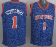 Wholesale Cheap New York Knicks #1 Amare Stoudemire Blue Leopard Print Fashion Jersey