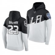 Wholesale Cheap Adidas Los Angeles Kings #23 Dustin Brown Men's 2020 Stadium Series White Black NHL Hoodie