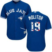 Wholesale Cheap Blue Jays #19 Paul Molitor Blue Team Logo Fashion Stitched MLB Jersey