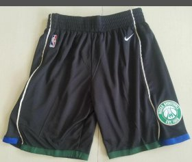 Wholesale Cheap Men\'s Milwaukee Bucks Nike Black Basketball Shorts