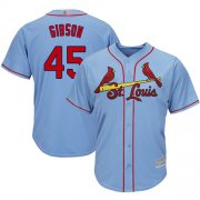 Wholesale Cheap Cardinals #45 Bob Gibson Light Blue Cool Base Stitched Youth MLB Jersey
