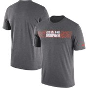 Wholesale Cheap Cleveland Browns Nike Sideline Seismic Legend Performance T-Shirt Charcoal
