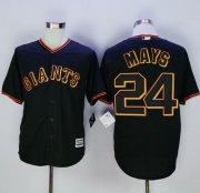 Wholesale Cheap Giants #24 Willie Mays Black New Cool Base Fashion Stitched MLB Jersey