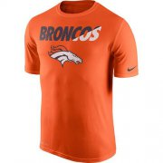 Wholesale Cheap Men's Denver Broncos Nike Orange Legend Staff Practice Performance T-Shirt