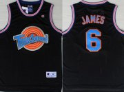 Wholesale Cheap Tune Squad 6 James Black Stitched Movie Basketball Jersey