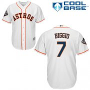 Wholesale Cheap Astros #7 Craig Biggio White Cool Base 2019 World Series Bound Stitched Youth MLB Jersey