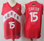 Wholesale Cheap Raptors #15 Vince Carter Red 2019 Finals Bound Basketball Swingman Earned Edition Jersey