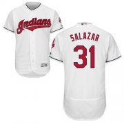 Wholesale Cheap Indians #31 Danny Salazar White Flexbase Authentic Collection Stitched MLB Jersey