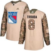 Wholesale Cheap Adidas Rangers #8 Jacob Trouba Camo Authentic 2017 Veterans Day Stitched NHL Jersey