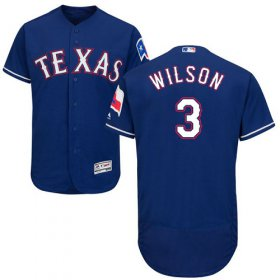 Wholesale Cheap Rangers #3 Russell Wilson Blue Flexbase Authentic Collection Stitched MLB Jersey