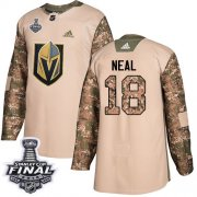 Wholesale Cheap Adidas Golden Knights #18 James Neal Camo Authentic 2017 Veterans Day 2018 Stanley Cup Final Stitched Youth NHL Jersey