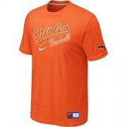Wholesale Cheap Baltimore Orioles Nike Short Sleeve Practice MLB T-Shirt Orange