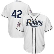 Wholesale Cheap Tampa Bay Rays #42 Majestic 2019 Jackie Robinson Day Official Cool Base Jersey White