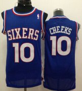 Wholesale Cheap Philadelphia 76ers #10 Maurice Cheeks Blue Swingman Throwback Jersey