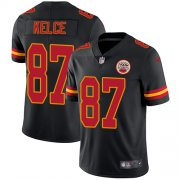 Wholesale Cheap Nike Chiefs #87 Travis Kelce Black Men's Stitched NFL Limited Rush Jersey