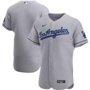 Wholesale Cheap Los Angeles Dodgers Men's Nike Gray Road 2020 Authentic Official Team MLB Jersey