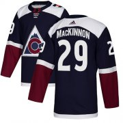 Wholesale Cheap Adidas Avalanche #29 Nathan MacKinnon Navy Alternate Authentic Stitched Youth NHL Jersey