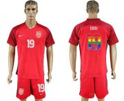 Wholesale Cheap USA #19 Zusi Red Rainbow Soccer Country Jersey