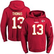 Wholesale Cheap Nike Chiefs #13 De'Anthony Thomas Red Name & Number Pullover NFL Hoodie