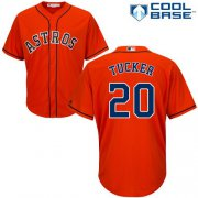 Wholesale Cheap Astros #20 Preston Tucker Orange Cool Base Stitched Youth MLB Jersey