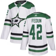 Cheap Adidas Stars #42 Taylor Fedun White Road Authentic Stitched NHL Jersey