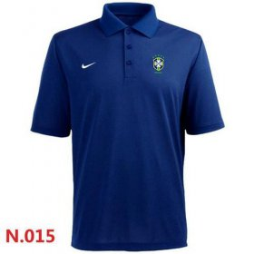 Wholesale Cheap Nike Brazil 2014 World Soccer Authentic Polo Blue