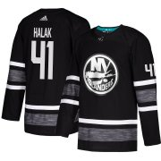 Wholesale Cheap Adidas Islanders #41 Jaroslav Halak Black 2019 All-Star Game Parley Authentic Stitched NHL Jersey