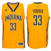 Wholesale Cheap Indiana Pacers #33 Myles Turner 2014-15 New Swingman Alternate Jersey Gold