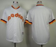 Wholesale Cheap Padres Blank White 1984 Turn Back The Clock Stitched MLB Jersey