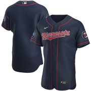 Wholesale Cheap Minnesota Twins Men's Nike Navy Alternate 2020 60th Season Authentic Team MLB Jersey