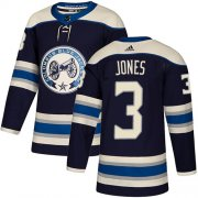 Wholesale Cheap Adidas Blue Jackets #3 Seth Jones Navy Alternate Authentic Stitched Youth NHL Jersey