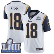 Wholesale Cheap Nike Rams #18 Cooper Kupp White Super Bowl LIII Bound Men's Stitched NFL Vapor Untouchable Limited Jersey