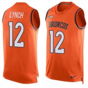Wholesale Cheap Nike Broncos #12 Paxton Lynch Orange Team Color Men's Stitched NFL Limited Tank Top Jersey