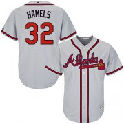 Wholesale Cheap Braves #32 Cole Hamels Grey New Cool Base Stitched Youth MLB Jersey
