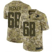 Wholesale Cheap Nike Lions #68 Taylor Decker Camo Men's Stitched NFL Limited 2018 Salute To Service Jersey