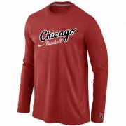 Wholesale Cheap Chicago White Sox Long Sleeve MLB T-Shirt Red