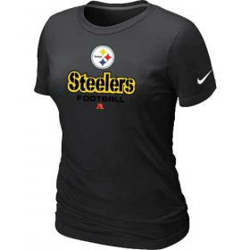 Wholesale Cheap Women\'s Nike Pittsburgh Steelers Critical Victory NFL T-Shirt Black