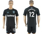 Wholesale Cheap West Ham United #12 Jenkinson Away Soccer Club Jersey