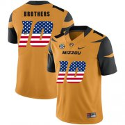 Wholesale Cheap Missouri Tigers 10 Kentrell Brothers Gold USA Flag Nike College Football Jersey