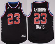 Wholesale Cheap 2015 NBA Western All-Stars #23 Anthony Davis Revolution 30 Swingman Black Jersey
