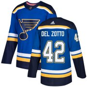 Wholesale Cheap Adidas Blues #42 Michael Del Zotto Blue Home Authentic Stitched NHL Jersey