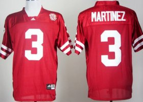 Wholesale Cheap Nebraska Cornhuskers #3 Taylor Martinez Red Jersey