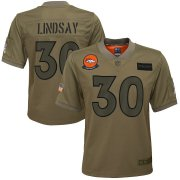 Wholesale Cheap Youth Denver Broncos #30 Phillip Lindsay Nike Camo 2019 Salute to Service Game Jersey