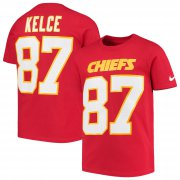 Wholesale Cheap Nike Kansas City Chiefs #87 Travis Kelce Youth Player Pride 3.0 Name & Number T-Shirt Red