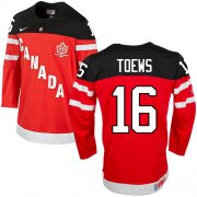 Wholesale Cheap Olympic CA. #16 Jonathan Toews Red 100th Anniversary Stitched NHL Jersey