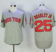 Wholesale Cheap Red Sox #25 Jackie Bradley Jr Grey New Cool Base 2018 World Series Stitched MLB Jersey