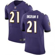 Wholesale Cheap Nike Ravens #21 Mark Ingram II Purple Team Color Men's Stitched NFL Vapor Untouchable Elite Jersey