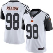 Wholesale Cheap Nike Bengals #98 D.J. Reader White Men's Stitched NFL Limited Rush Jersey