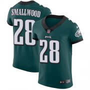 Wholesale Cheap Nike Eagles #28 Wendell Smallwood Midnight Green Team Color Men's Stitched NFL Vapor Untouchable Elite Jersey