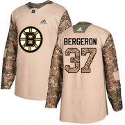 Wholesale Cheap Adidas Bruins #37 Patrice Bergeron Camo Authentic 2017 Veterans Day Stitched NHL Jersey